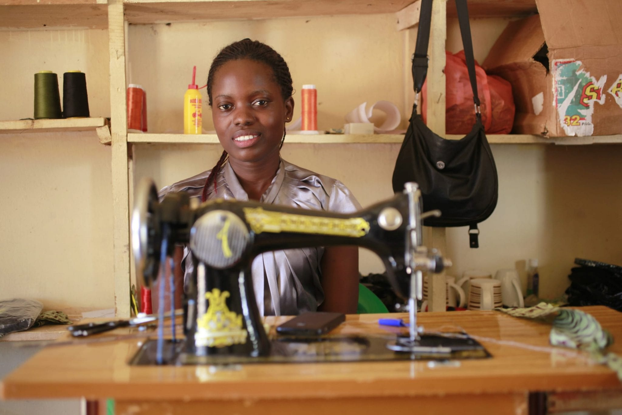 startup grant small business creative jobs employment economic security uganda sewing